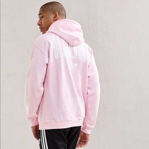 🍉 Urban outfitters baby pink Adidas hoodie 🍉
